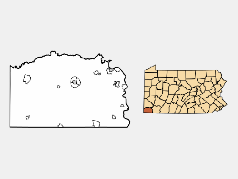 Waynesburg locator map