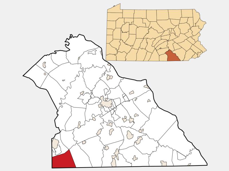 West Manheim locator map