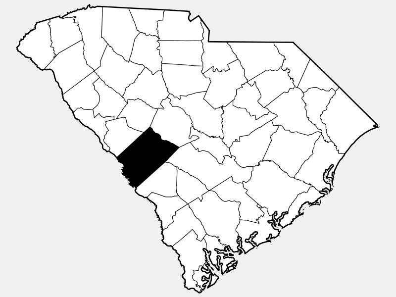 Aiken County locator map