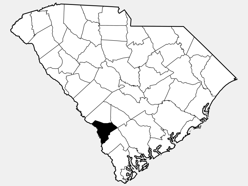 Allendale County locator map