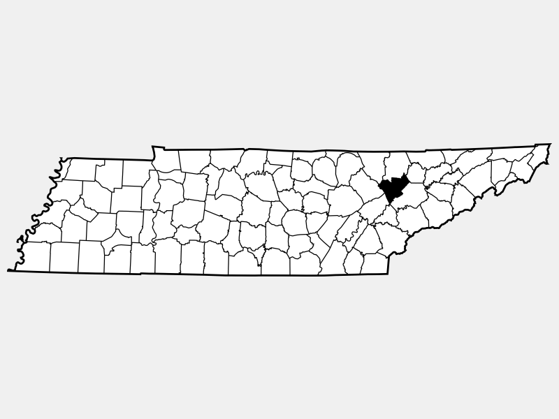 Anderson County locator map