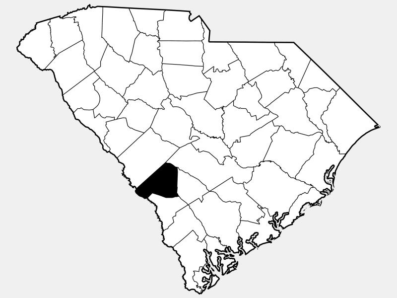 Barnwell County locator map