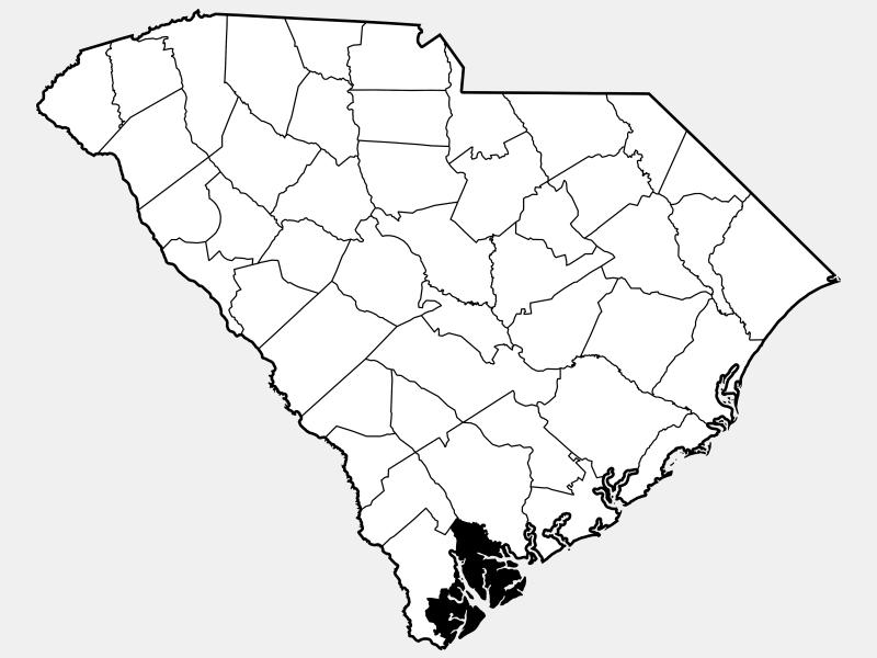 Beaufort County locator map