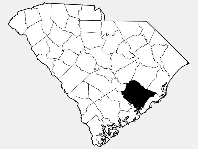 Berkeley County locator map
