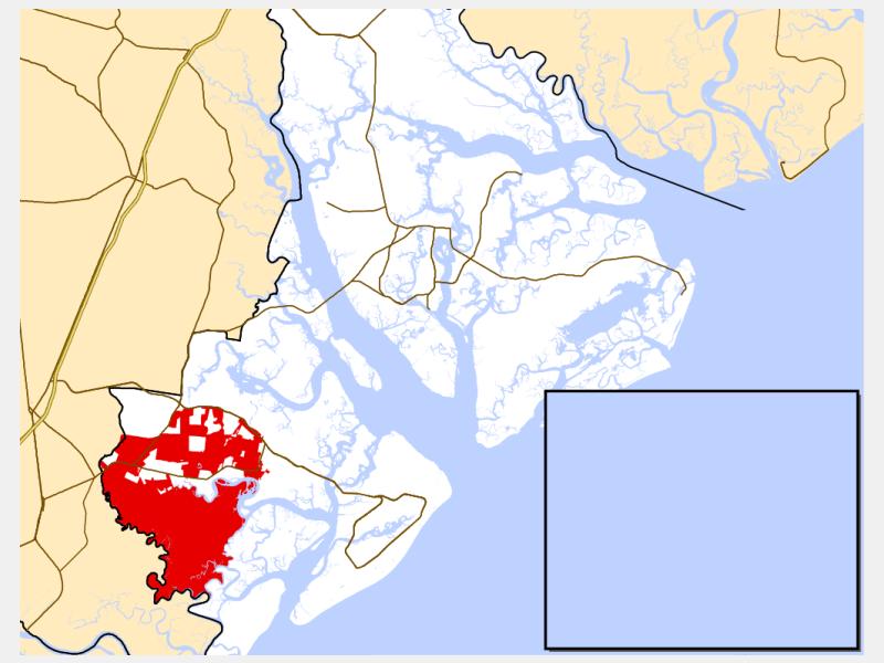 Bluffton locator map