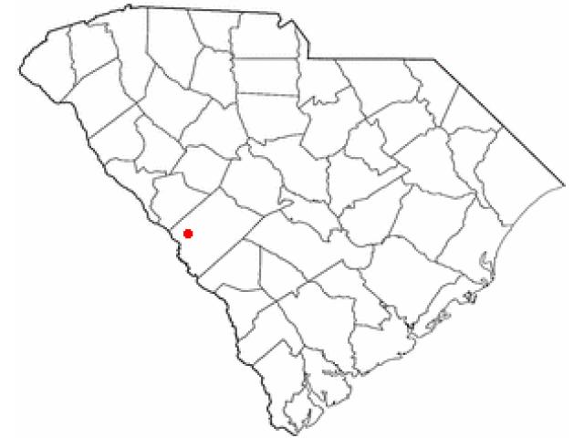 Burnettown locator map