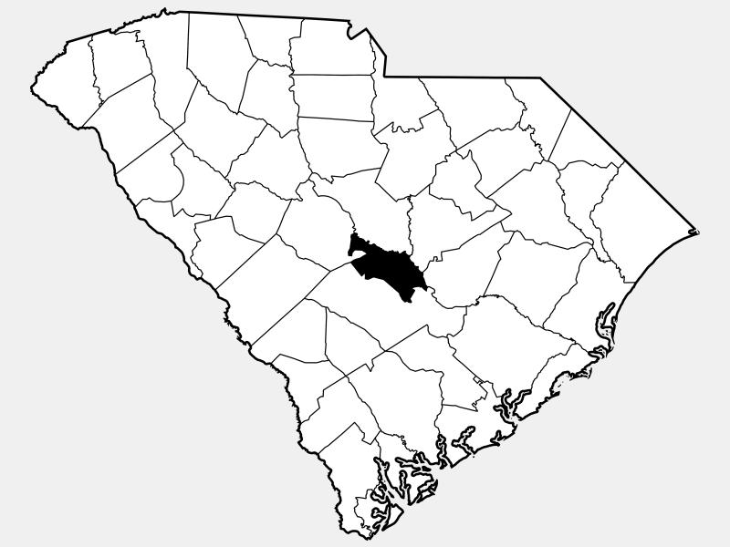 Calhoun County location map