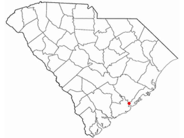 Charleston locator map