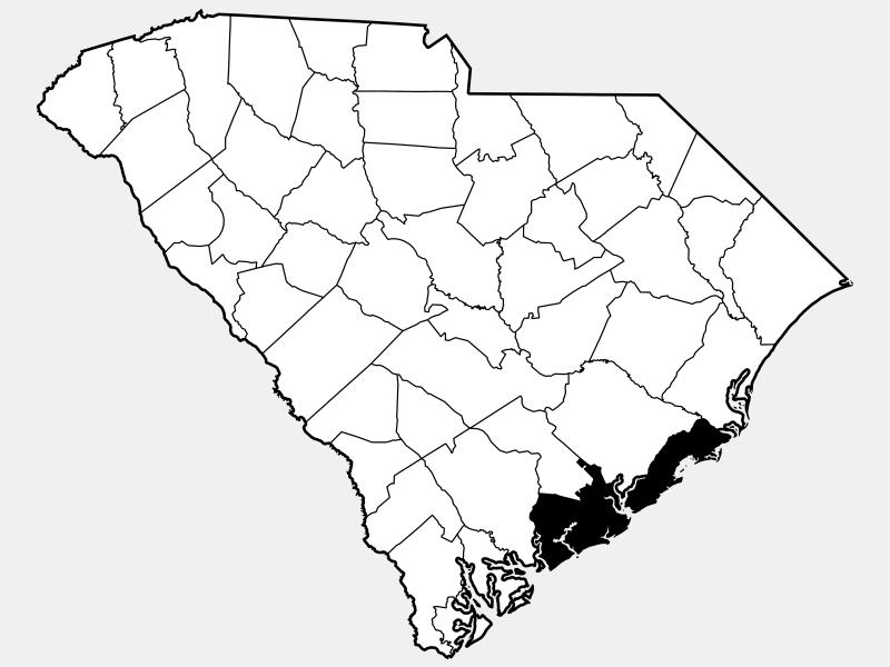 Charleston County locator map