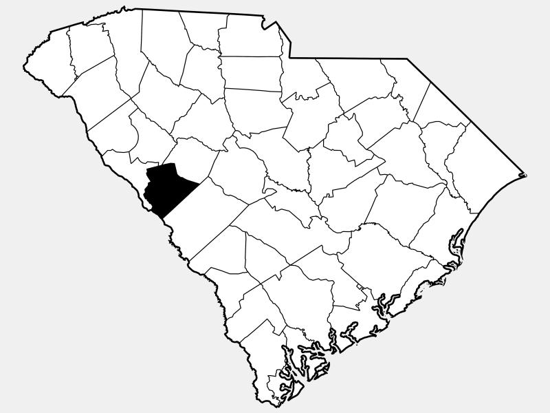 Edgefield County locator map