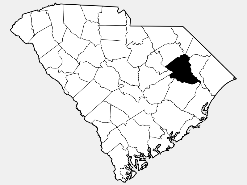 Florence County locator map