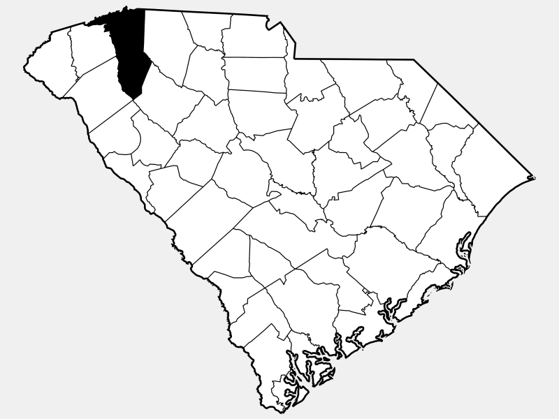 Greenville County locator map