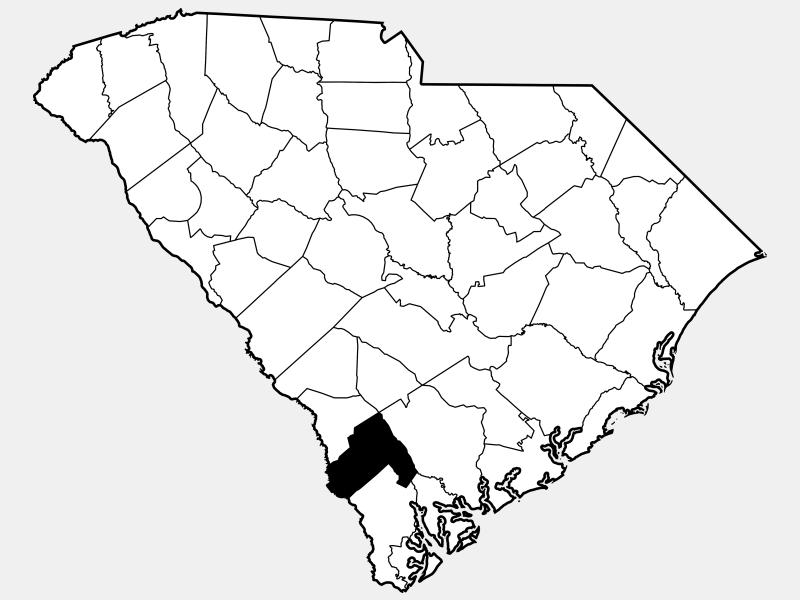 Hampton County locator map