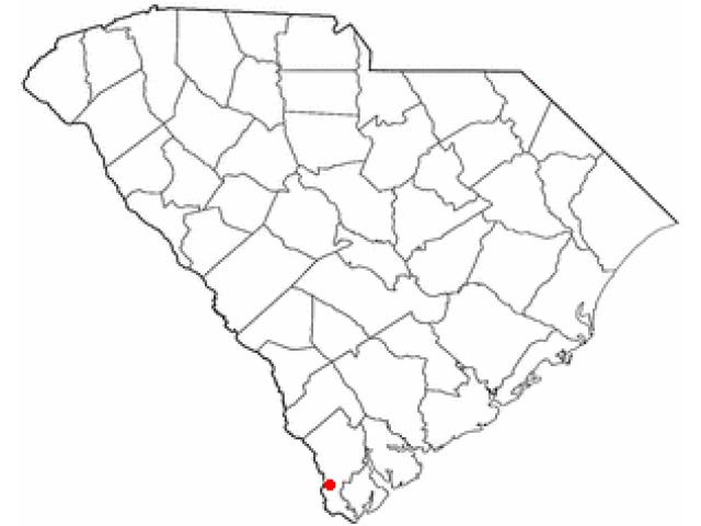 Hardeeville location map