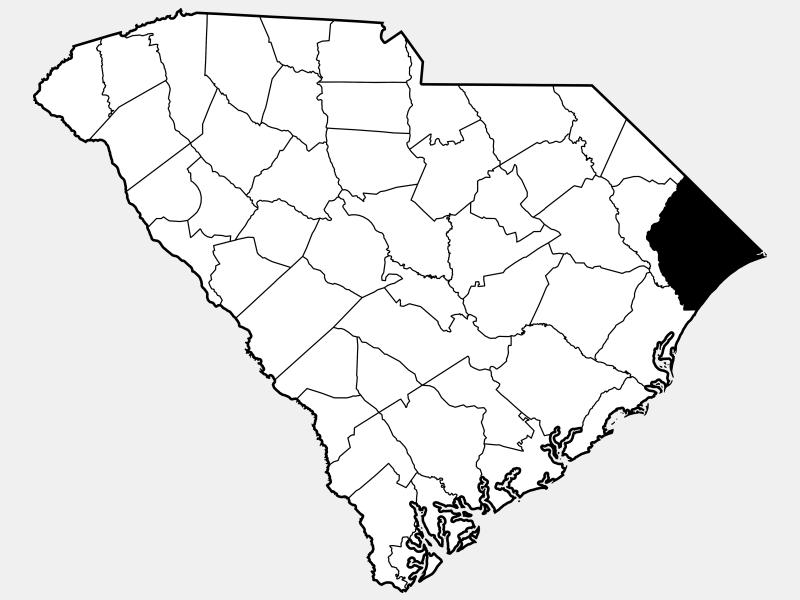 Horry County locator map