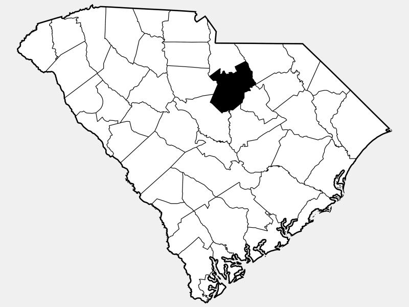Kershaw County, SC locator map