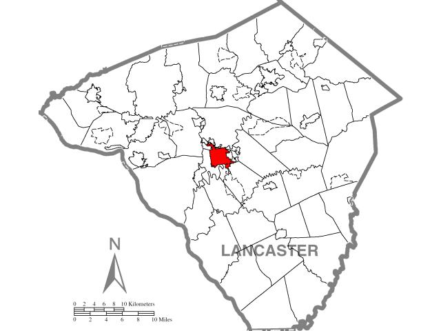 Lancaster locator map