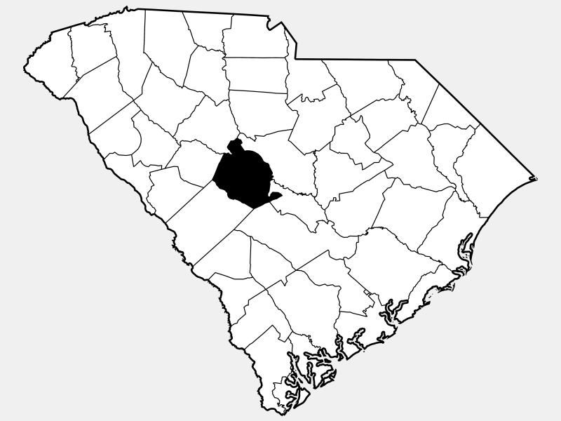 Lexington County locator map