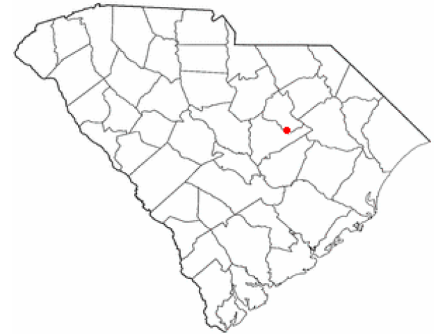Mayesville locator map