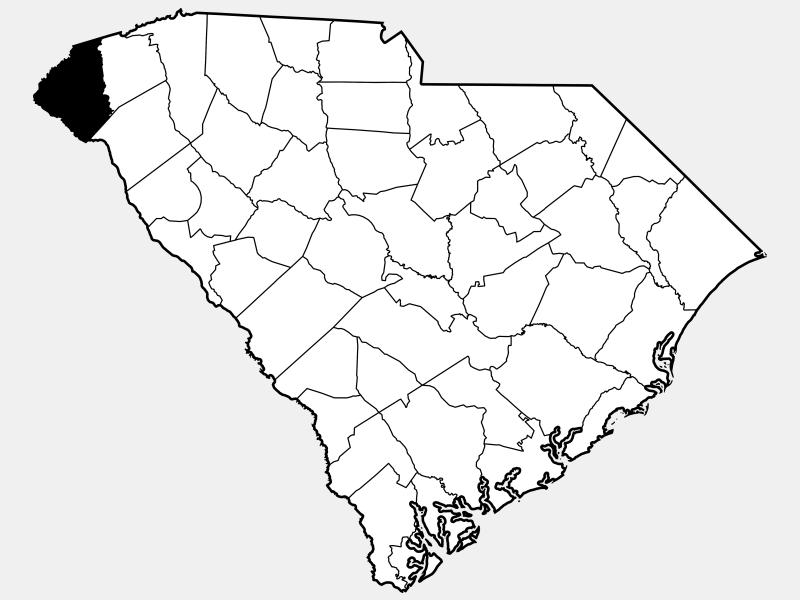 Oconee County locator map