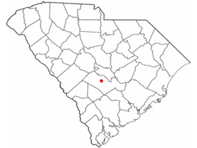 Orangeburg locator map