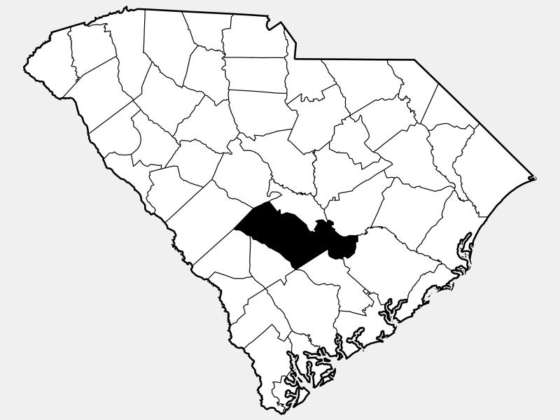Orangeburg County locator map
