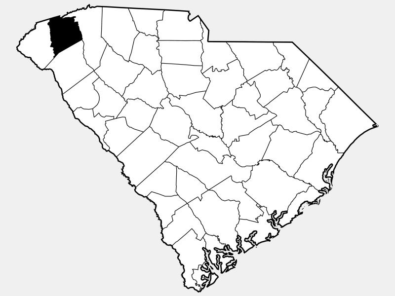 Pickens County locator map