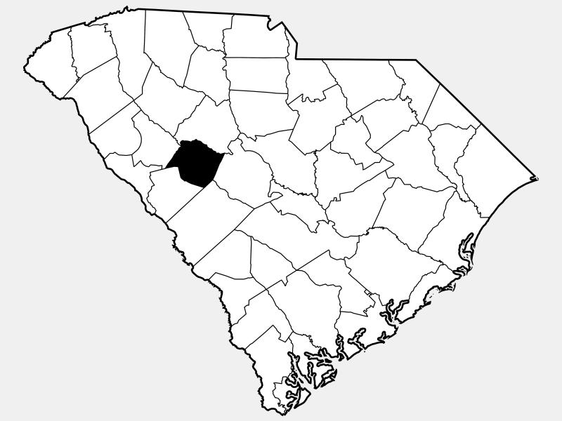 Saluda County locator map