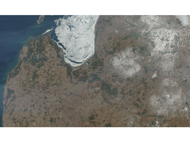 Satellite image of Latvia in March 2003 image