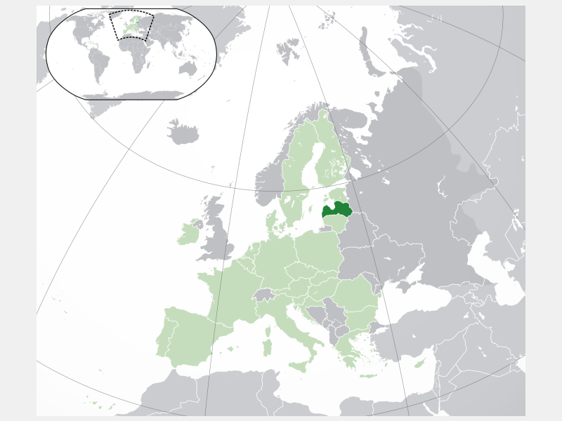 Republic of Latvia locator map