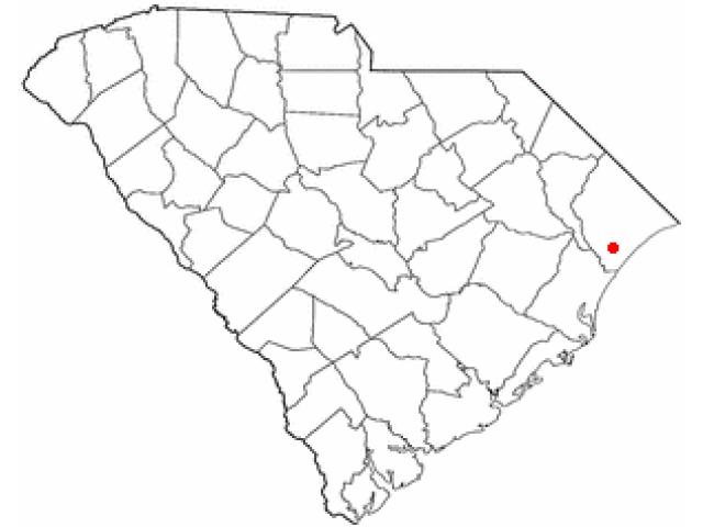 Socastee locator map