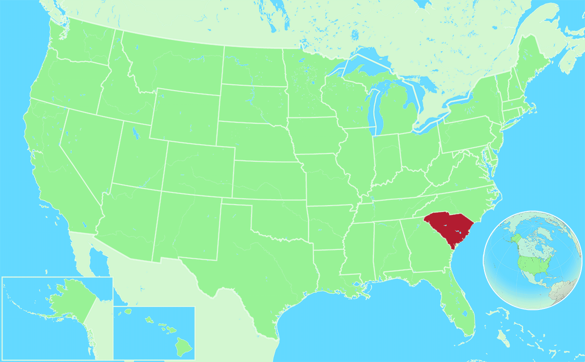 South Carolina locator map