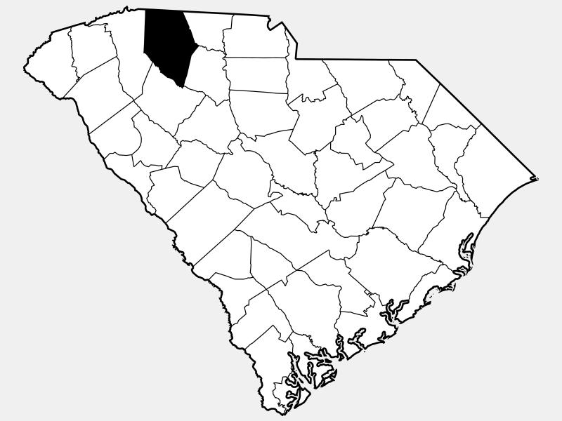 Spartanburg County locator map
