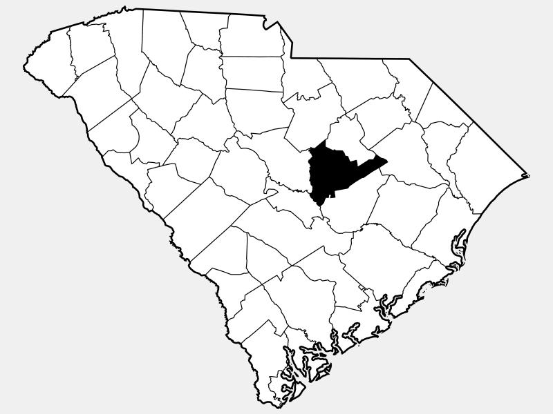 Sumter County locator map