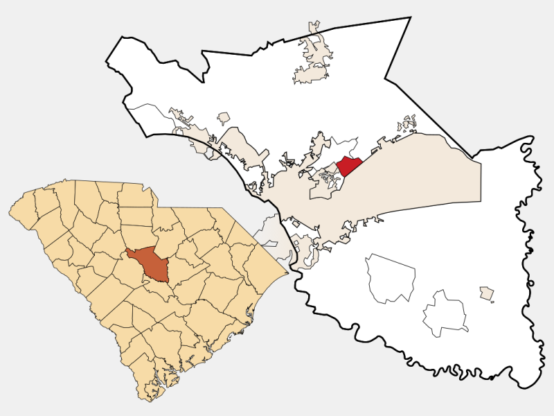 Woodfield locator map