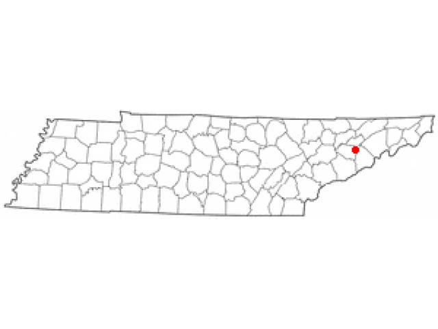 Baneberry locator map