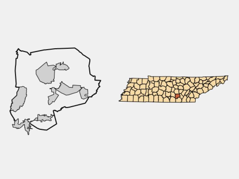 Beersheba Springs locator map