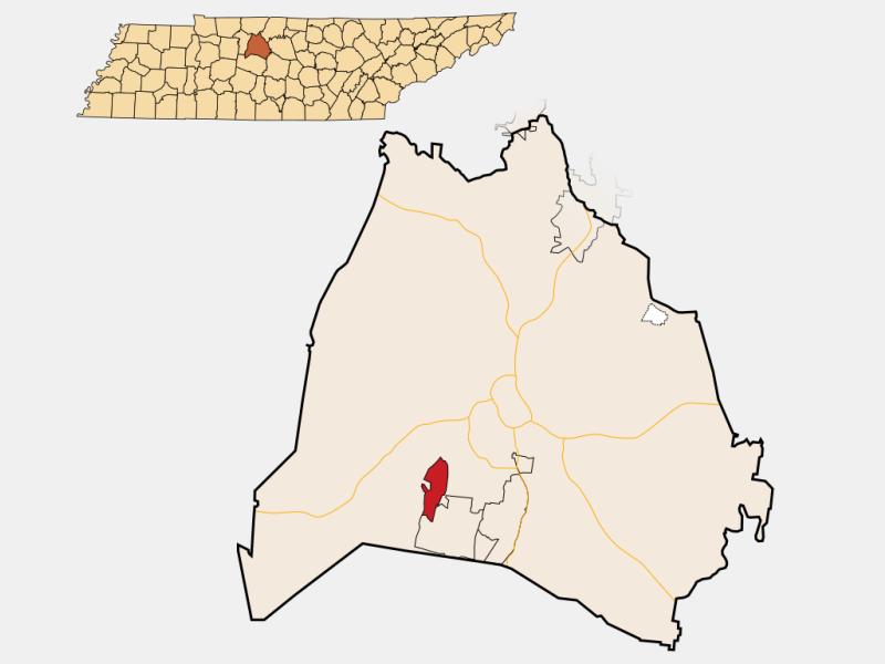 Belle Meade locator map