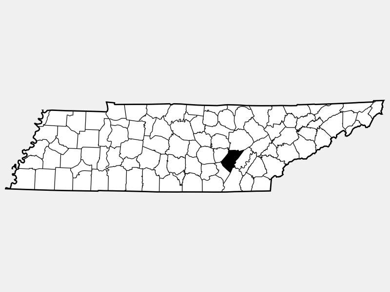 Bledsoe County locator map