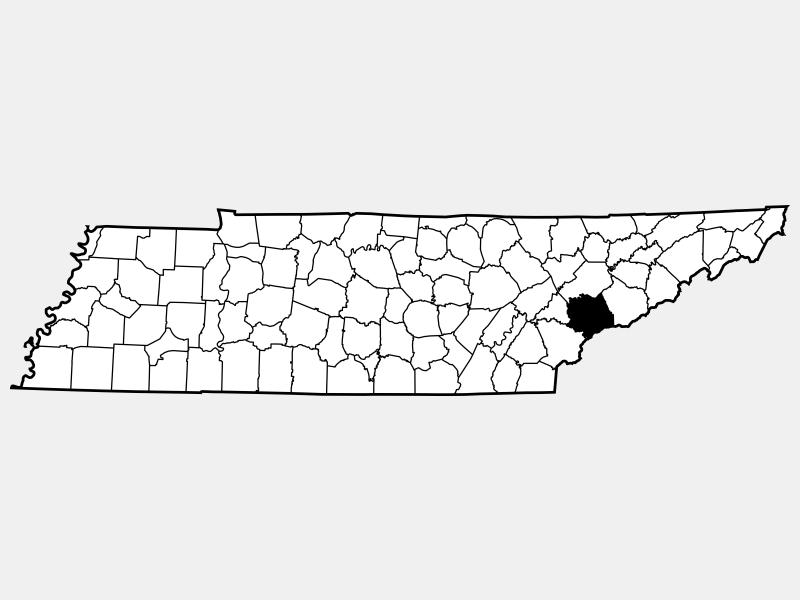 Blount County locator map