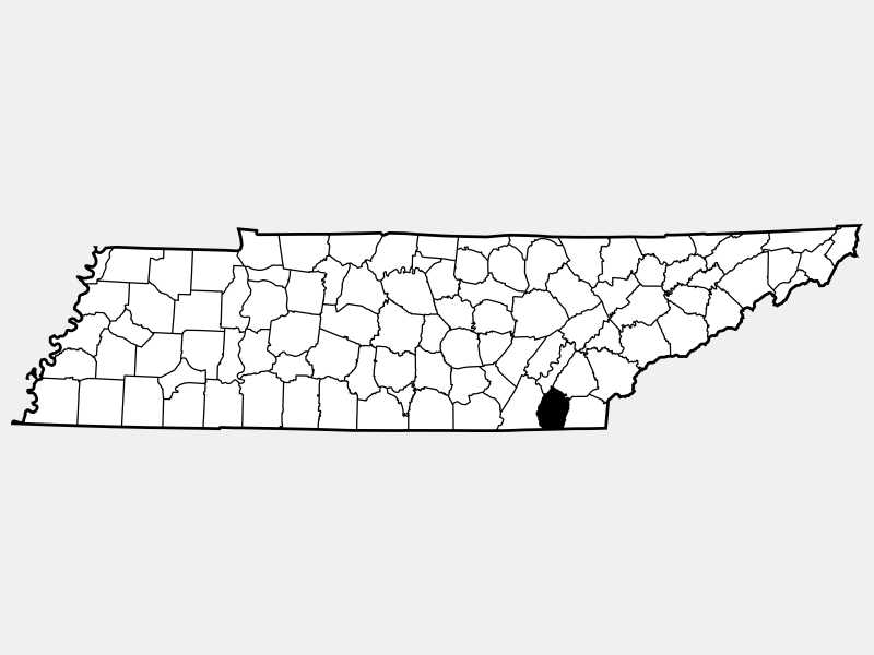 Bradley County locator map