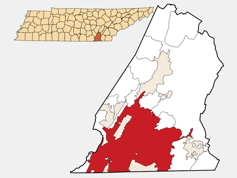 Chattanooga locator map