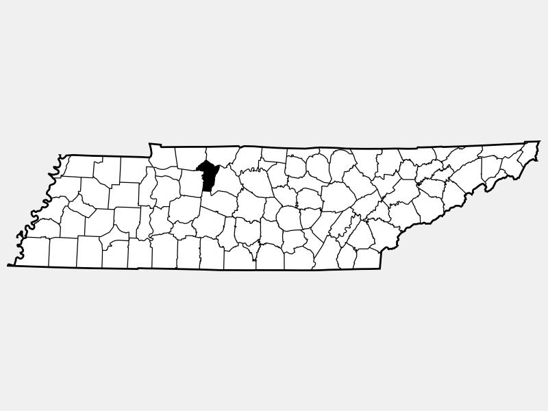 Cheatham County locator map