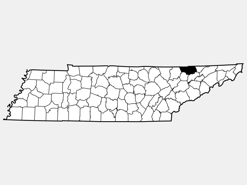 Claiborne County locator map