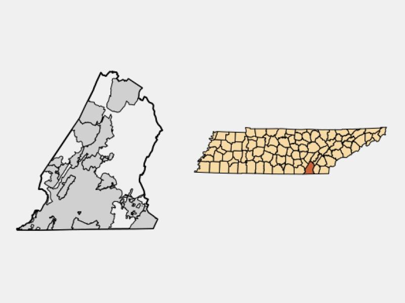 Collegedale locator map