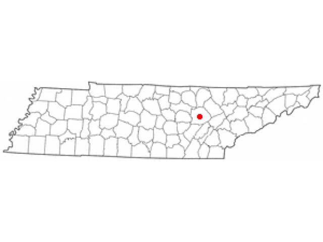 Crossville locator map