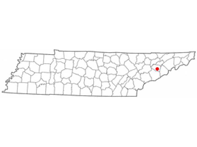 Dandridge locator map