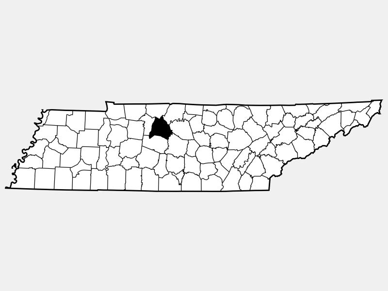 Davidson County locator map