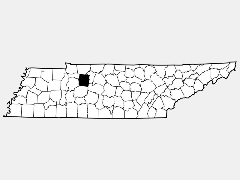 Dickson County locator map
