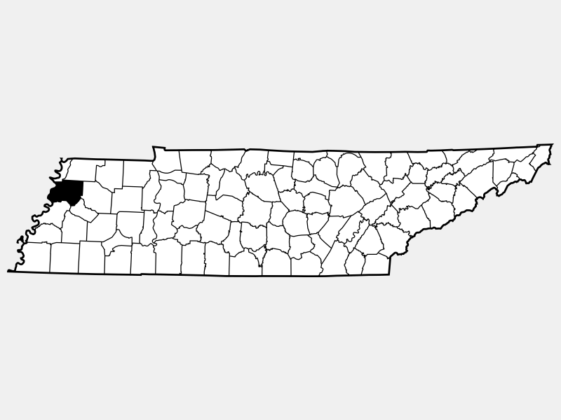 Dyer County locator map
